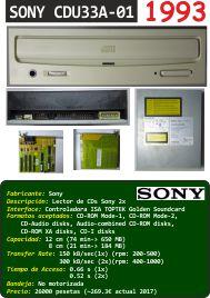 SONY CDU33A-01 (COM.ALM.PC.0001.P) (1993)