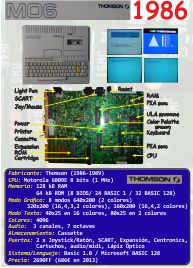 Ficha: Thomson MO6 (1986)