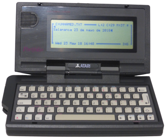 Atari Portfolio (1989) (ORD.0069.P/Funciona/Ebay/11-05-2018)