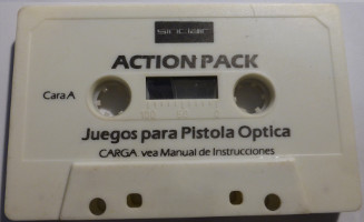 SINCLAIR ACTION PACK: JUEGOS PARA PISTOLA ÓPTICA (Spectrum)(1989)