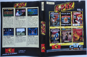 6.PAK: GHOST'N GOBLINS,  ESCAPE FROM SONGE'S CASTLE (DRAGON'S LAIR II), PAPERBOY, THE LIVING DAYLIGHTS (ALTA TENSION), ENDURO RACER, DRAGON'S LAIR (Amstrad CPC)(1988)